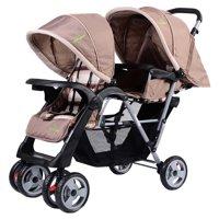 Costway Foldable Twin Double Stroller
