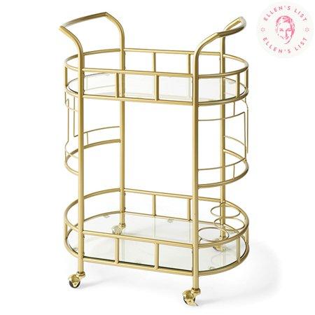 - Better Homes & Gardens Fitzgerald 2-Tier Serving Cart, Gold