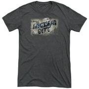 Arkham City Greetings From Arkham Mens Tri-Blend Short Sleeve Shirt