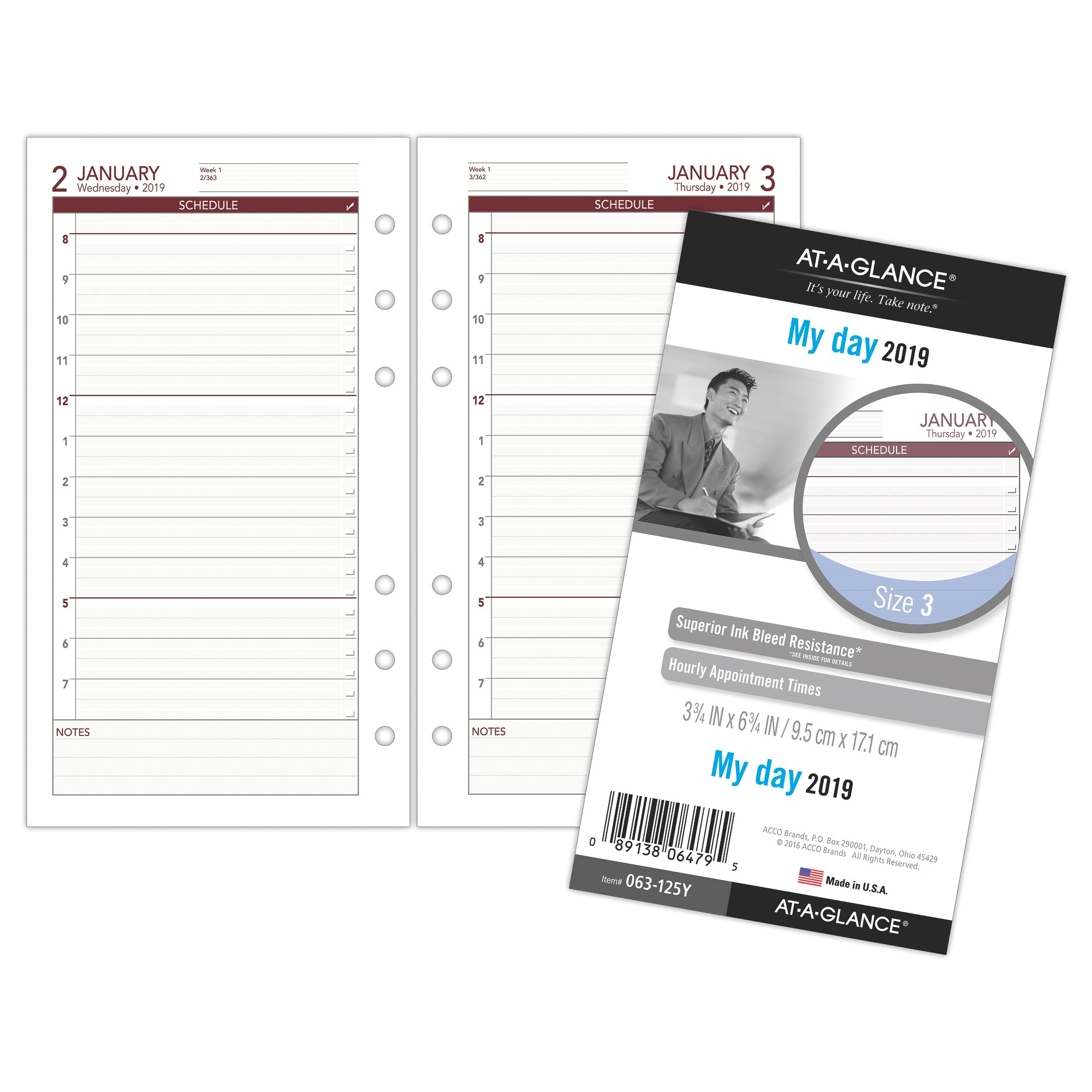photograph about Daily Planners known as At-A-Look Working day Runner Every day Planner Refill - Dimension 3 - Day-to-day Planner Refills
