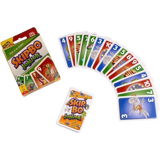 Skip Bo Junior Easy To Learn Kids Card Game For 5 Year Olds And Up