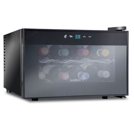 Ivation 8 Bottle Thermoelectric Countertop Freestanding Wine Cooler/Fridge - Horizontal -