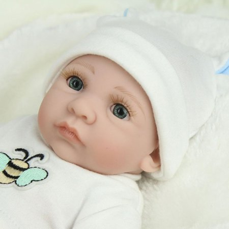 28cm Lovely Kids Reborn Baby Doll Washable Soft Vinyl Lifelike Newborn Doll Girl Boy Best Birthday Gift For Boys Girls - image 2 de 8