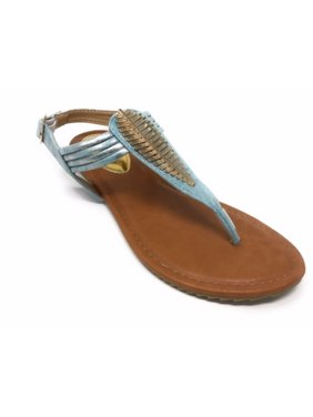 80d486523 Product Image Victoria K Women s Gold Feather Metallic Sandals