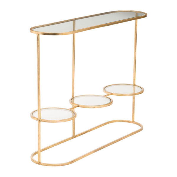 Zuo Modern Aron Console Table Gold
