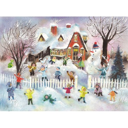 Children Snowball Fight German Advent Calendar - Advent Calendar Kids