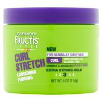 Garnier Fructis Style Curl Stretch Loosening Pudding, For Naturally Curly Hair, 4 oz.