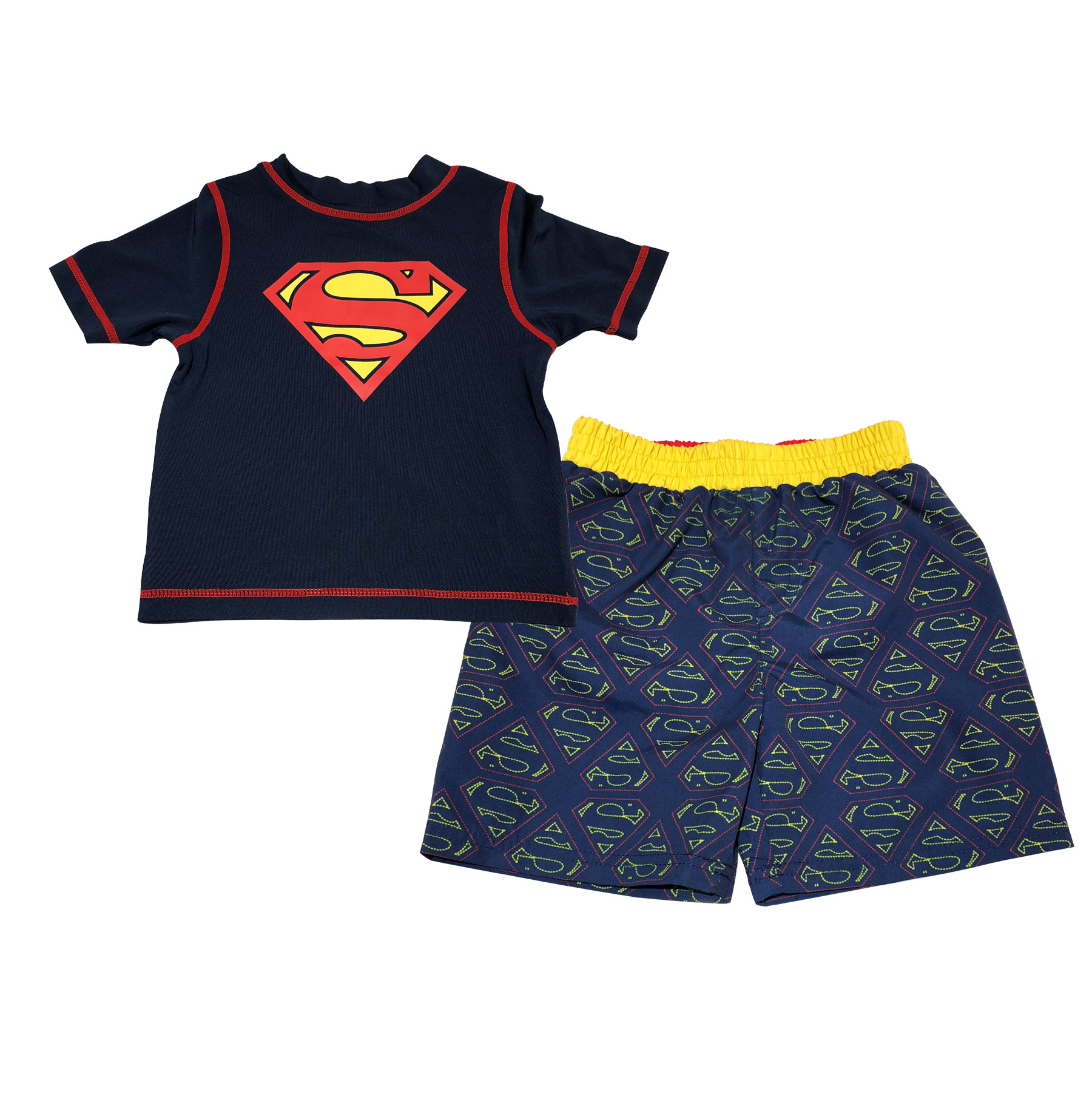 Baby Toddler Boy Rashguard Top & Swim Trunks, 2pc Set