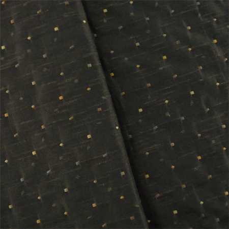 Black Embroidered Shantung Home Decorating Fabric By The Yard