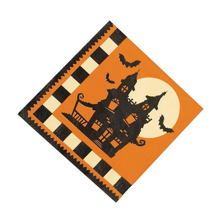 Fun Express - Halloween Silhouette Lunch Napkins for Halloween - Party Supplies - Print Tableware - Print Napkins - Halloween - 16 Pieces - Halloween Express Discount Code