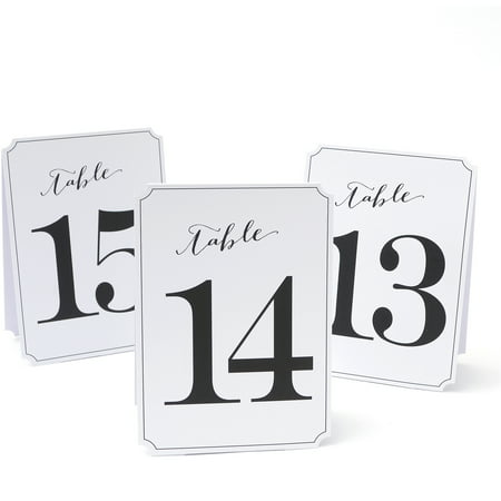 Table Number Cards (Gartner Studios Wedding Collection 13-24 Table Numbers, 12)
