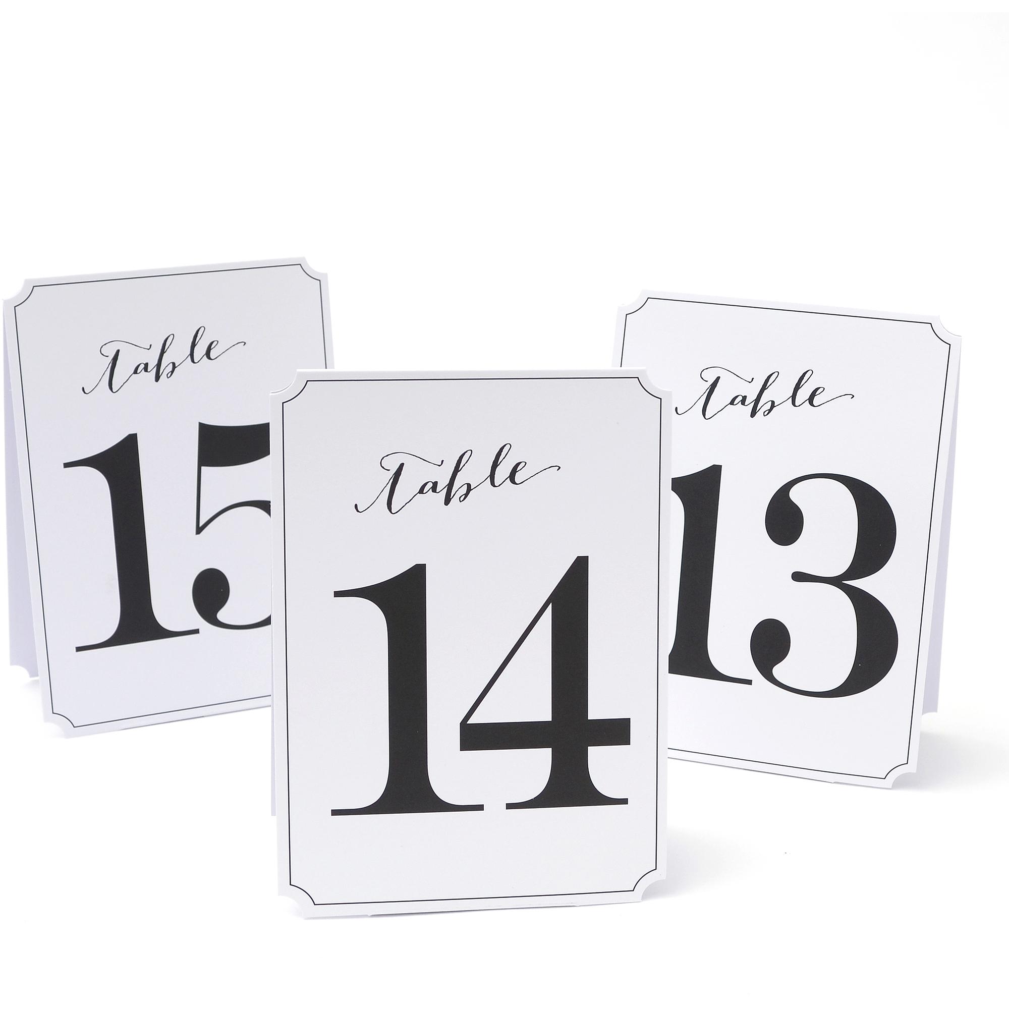 Gartner Studios Table Numbers, 13-24
