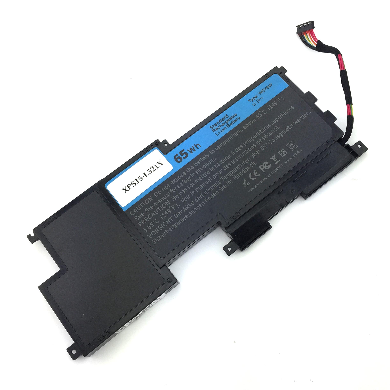 EBK 65wh 5700Mah W0Y6W Battery For Dell XPS 15 XPS 15-L521X Series Laptop  W0Y6W WOY6W 9F233 3NPC0