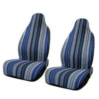2pcs Universal Durable Blue Baja Blanket Bucket Auto Front Seat Cover