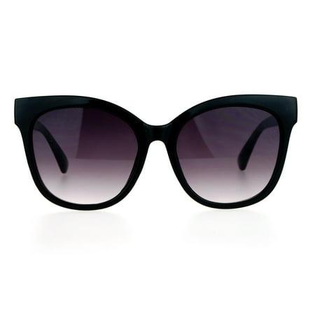 e036a276bf SA106 Womens Oversize Horn Rim Cat Eye Sunglasses Black Smoke ...