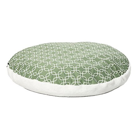 - Quiet Time Teflon Green Round Dog Bed 48in
