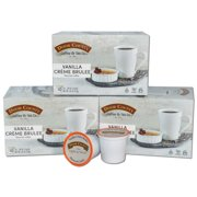 Door County Coffee Vanilla Crème Brulee Flavored Specialty Single-Serve Coffee Pods, Medium Roast, 30 Count (3 Pack, 10 Count Boxes), Compatible with Keurig 2.0 K Cup Brewers