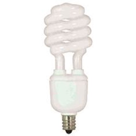 Satco Compact - SATCO SPIRAL COMPACT FLUORESCENT LAMP, T2, MINI, 13 WATTS, 120 VOLTS, 2700K, 82 CRI, CANDELABRA BASE