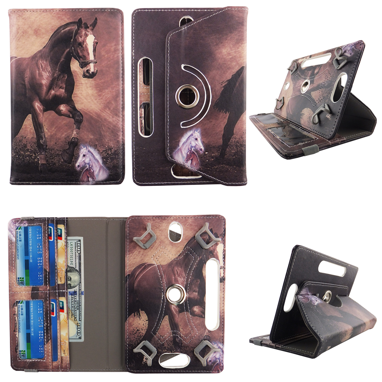 "Starry Night tablet case 8 inch  for Samsung Galaxy Tab A 8"" 8inch android tablet cases 360 rotating slim folio stand protector pu leather cover travel e-reader cash slots"