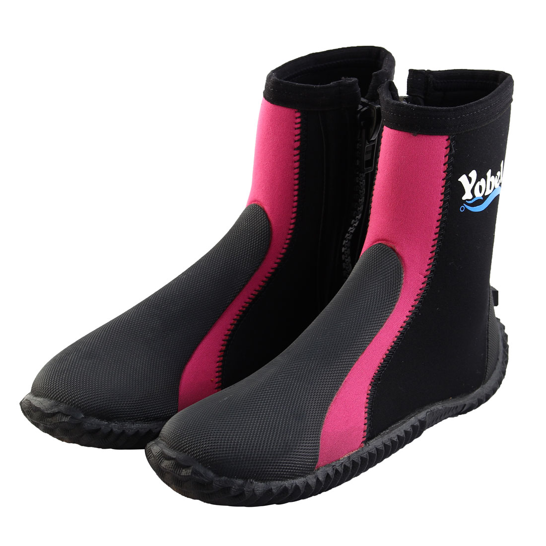 Click here to buy Outdoor Diving Surfing Beach Winter Swimming Anti-slip Wetsuits Water Shoes Boots US 6 Pair Fuchsia by Unique-Bargains.