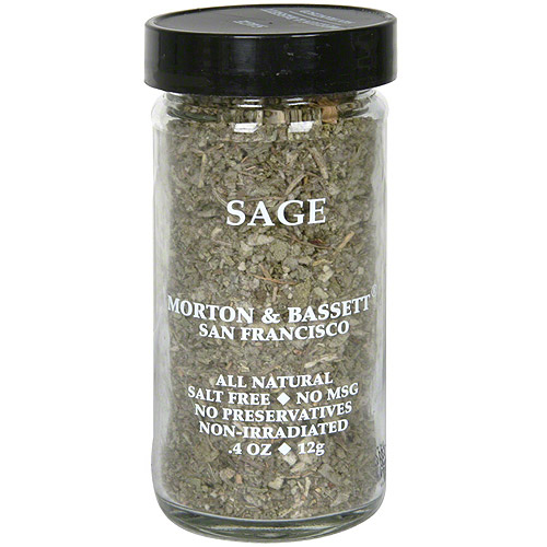 Morton & Bassett Spices Sage, 0.4 oz (Pack of 3)