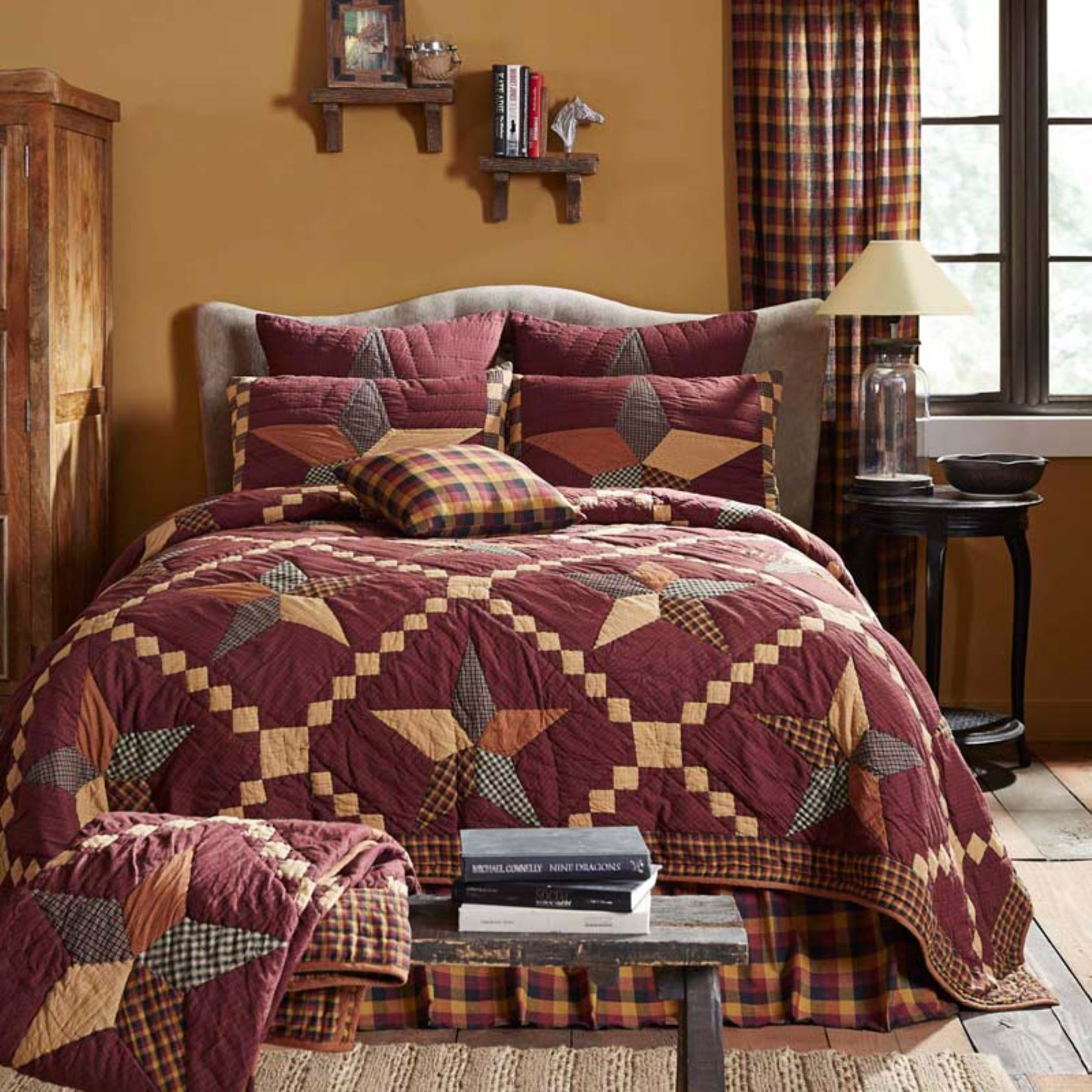 Folkways Star Quilt by VHC Brands