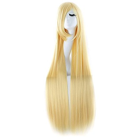 """MapofBeauty 40"""" 100cm Anime Costume Long Straight Cosplay Wig Party Wig (Blonde) - image 1 of 1"""