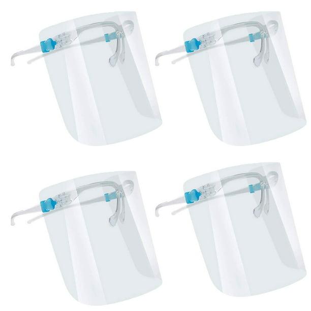 Safety Face Shield Protection Cover Guard Reusable Transparent AntiFog 4 Pk