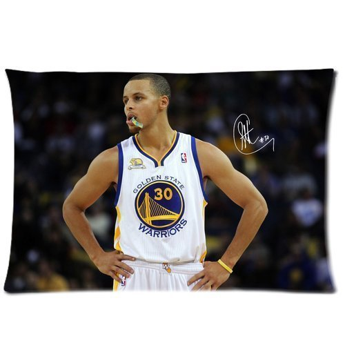 DEYOU Stephen Curry Golden State Warriors Pattern Pillowcase Pillow Case Cover Two Sides Printing Size 20x30 inch