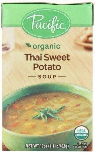 12 Pack : Pacific Natural Foods All Natural Thai Sweet Potato Soup, 17 Ounce Boxes by