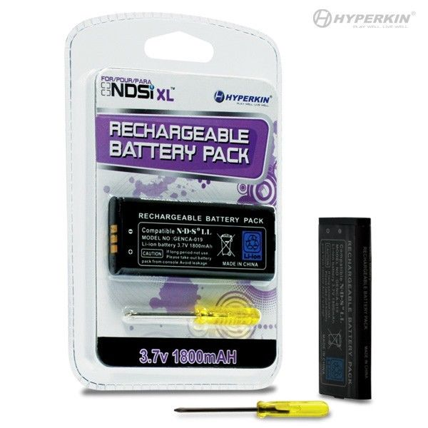 DSi XL Rechargeable Battery Pack with Screwdriver by Hyperkin