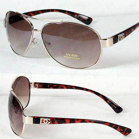 new dg eyewear aviator fashion designer sunglasses shades mens women gold/tortoise (Fashion Aviator Shades Sunglasses)