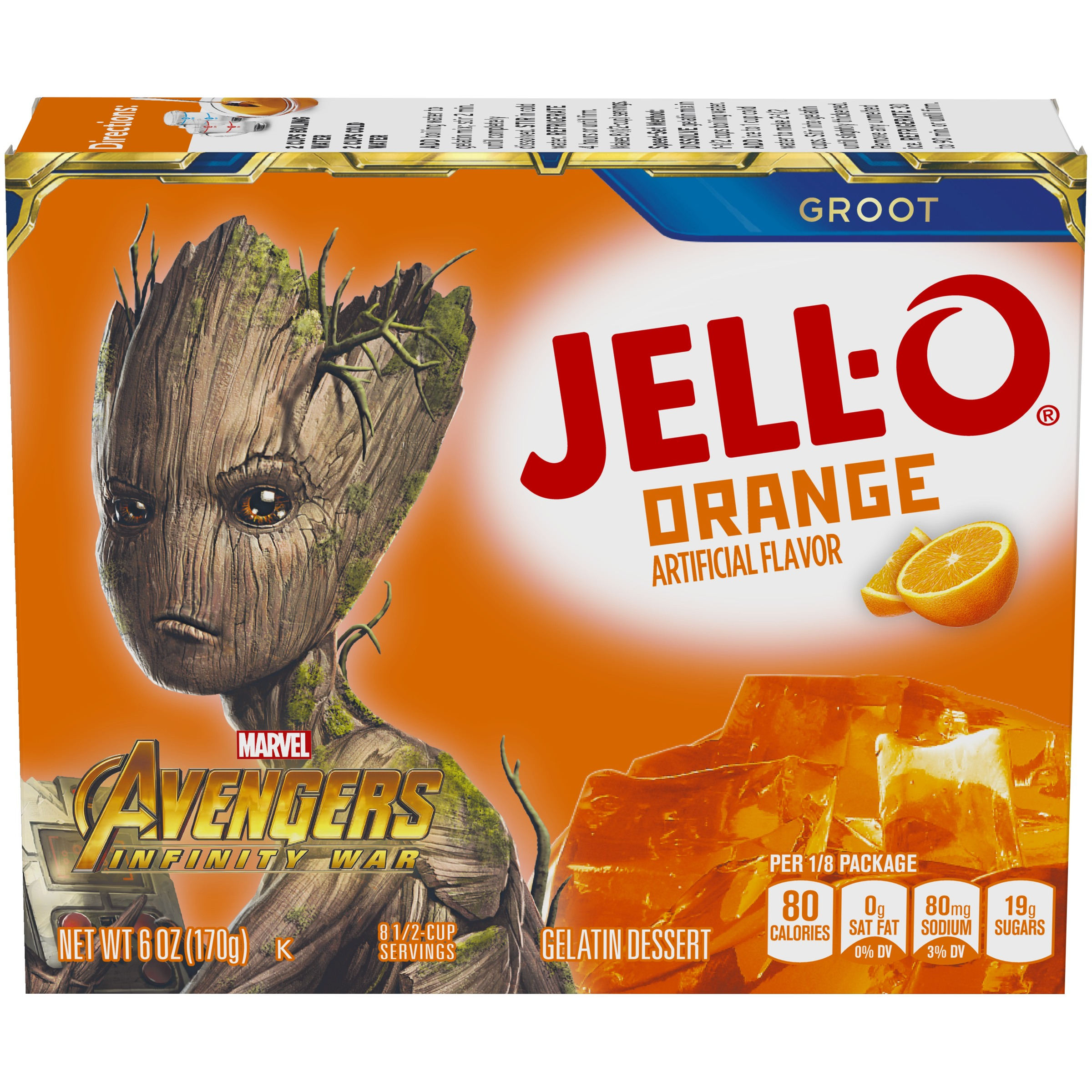 Jell-o Orange Gelatin Dessert 6 oz. Box