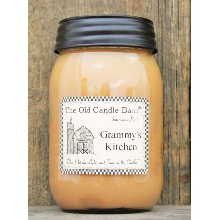 Grammys Kitchen 16 Oz Jar Candle - Made in the USA - Blow out The Light And Turn On The (Turn Out The Lights Light A Candle)