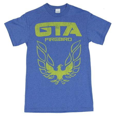 Pontiac Firebird Mens T Shirt - Distressed GTA Firebird Logo on
