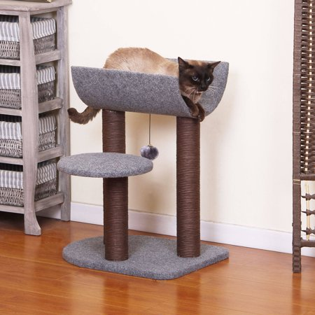 Petpals Group Cradle Chocolate And Grey Color Cat Tree