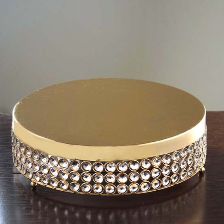 Efavormart Fancy Beaded Crystal Metal Cake Stand Metal Dessert Display For Events (Fancy Cake Stand)