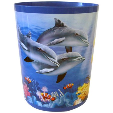 Mainstays Dolphin Sea Wastebasket Walmart Com