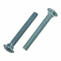 """3/16""""-24 X 1-1/2"""" Zinc Plated Square Neck Grade 2 Carriage Bolts (Pack of 12)"""