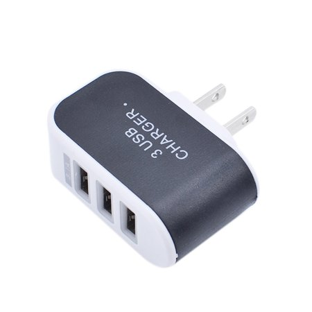 Universal 3 Ports USB Wall Charger Home Travel AC Charger Adapter US-Plug for Tablets Smartphones (Usb Wall Charger Adapter)