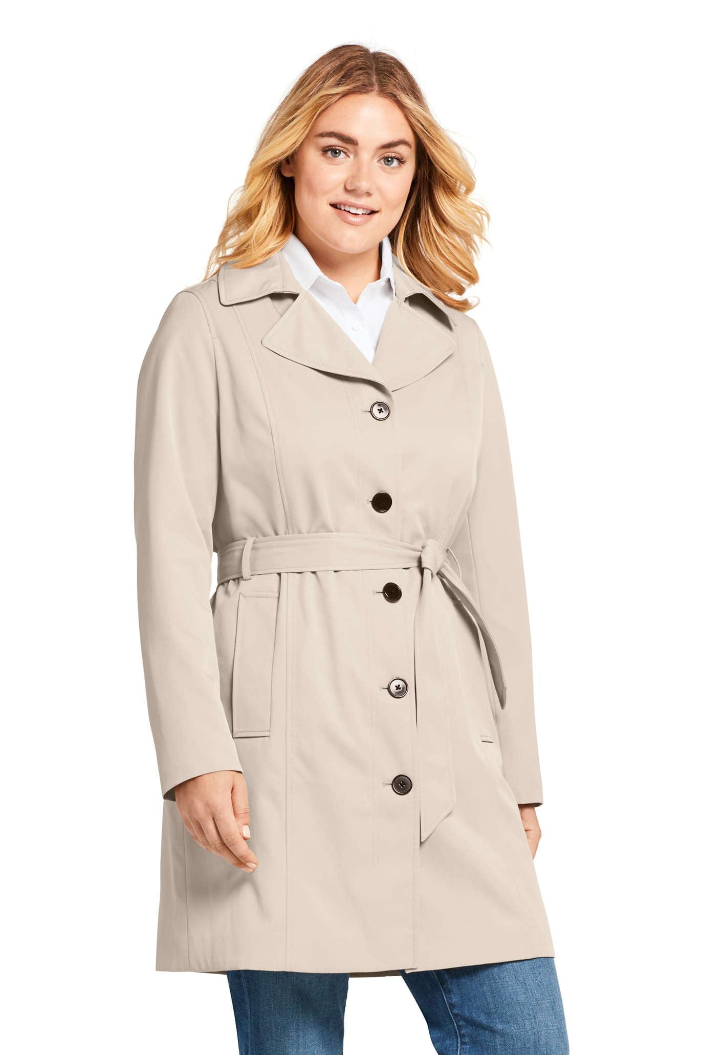 Women's Plus Lightweight Trench Coat