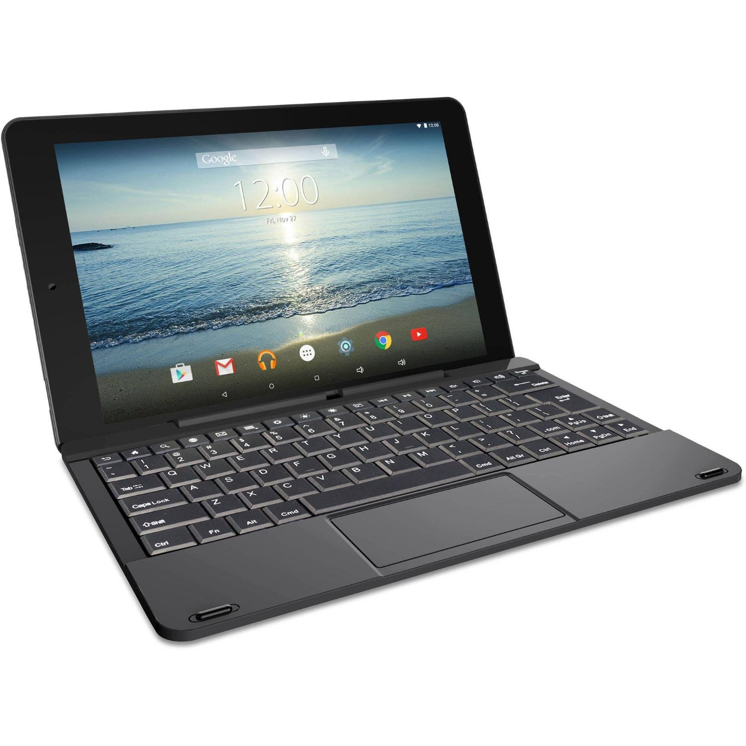 "Refurbished RCA RCT6303W87DK 10"" Viking Pro Black Tablet 2-in-1 Android 5.0 32GB Quad Core"