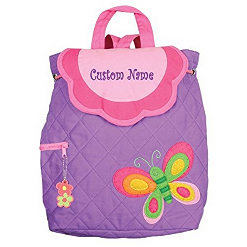 Personalized Stephen Joseph Purple Butterfly Embroidered Backpack, CUSTOM NAME