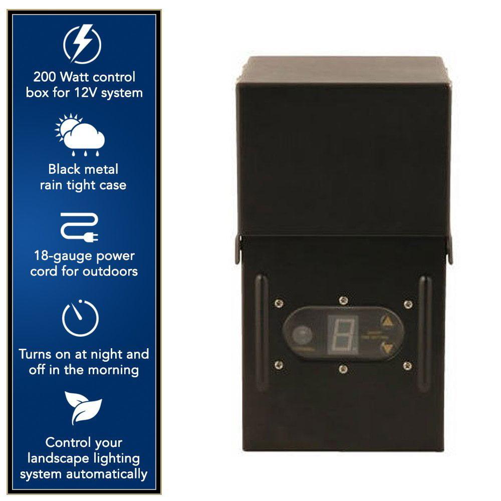 Moonrays 200-Watt Power Pack for Outdoor Low Voltage Lighting with ...