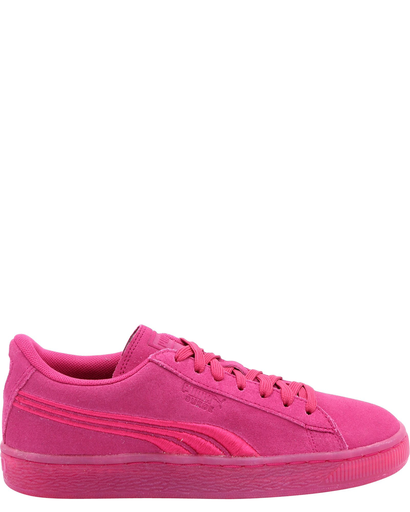 Puma 365020-01 : Suede Classic Badge Youth Sneaker Iced Pink
