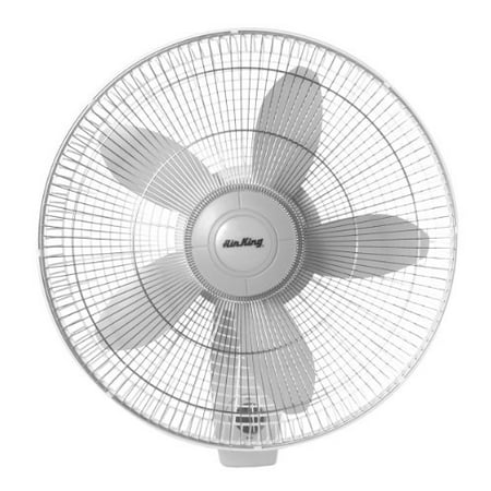 Air King 9018 Commercial Grade Oscillating Wall Mount Fan, -