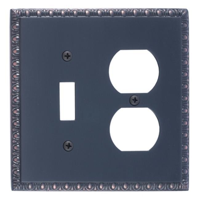BRASS Accents M05-S7540-613VB Egg & Dart Double Outlet Combo Venetian Bronze Switchplates - image 1 de 1