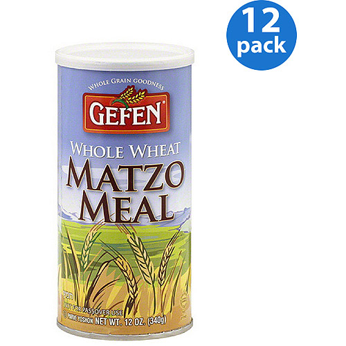Gefen Whole Wheat Matzo Meal, 12 oz, (Pack of 12)