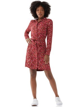 Free Assembly Women's Button-Down Shirtdress