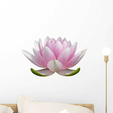 White Lotus Flower Wall Decal Sticker Wallmonkeys Peel Stick